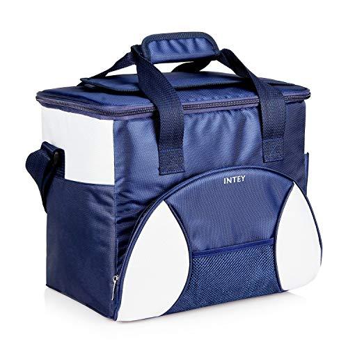 INTEY Kühltasche 20L Kühlbox Camping Isoliertasche Kühlkorb Thermotasche Campingtasche Isolierbox Picknicktasche, Blau/Grün