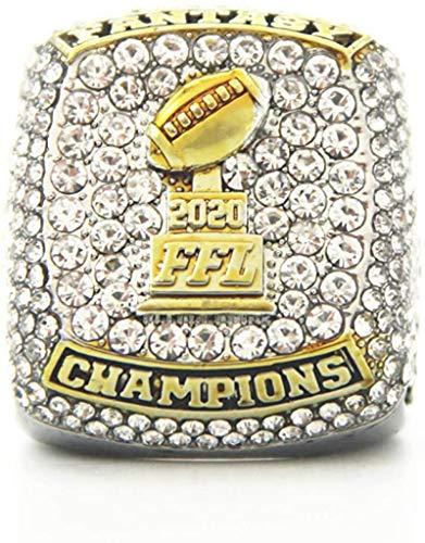 GUOSHUFANG 2020 Fantasy Football Championship Ring Super Bowl Ringe, Replica Ring Fans Sammler Geschenk Nummer 10, mit der Box