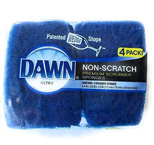 Dawn Ultra Non-Scratch Premium Scrubber Sponges 4 Pack
