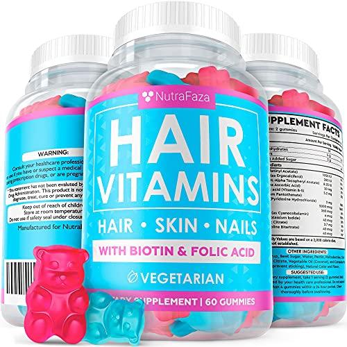 Vegetarian Gummy Hair Vitamins - Ha…