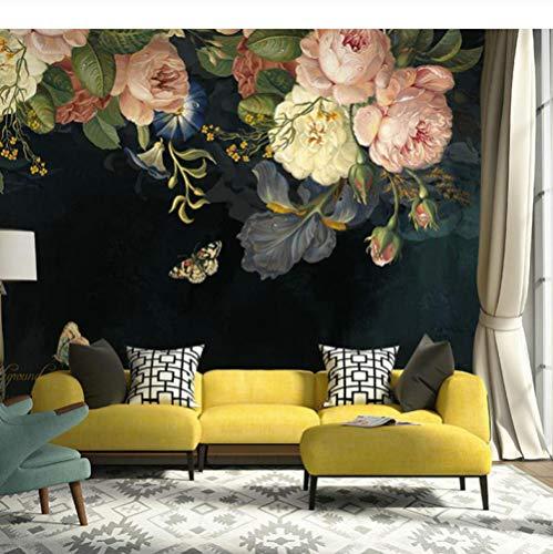 Fotobehang bloem, vlinder wandafbeeldingen behang HD canvas muurschilderij modern design wanddecoratie voor kinderkamer kantoor hal 140CMx100CM Hd Kristalltuch
