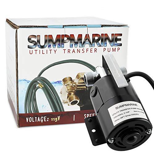 SumpMarine UTP 115-Volt 330 GPH Portable Transfer Water Pump, Bronze