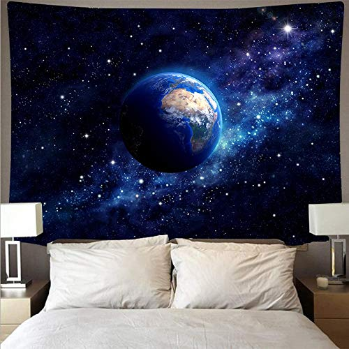 Interestelar espacio planeta tapiz de tela de pared psicodélico colgante de pared toalla de playa manta tela de fondo A5 150x200cm