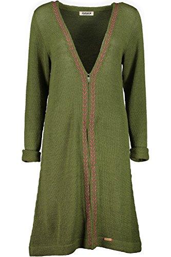 Maloja salzburgm Strickjacke, Damen Einheitsgröße grün (Wood)
