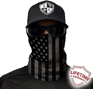 S A 1 Face Shield Blackout American Flag SA Face Shields for Men and Face Shields for Women – UV Face Shield