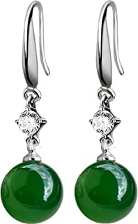 JJGL Earrings For Women Silver 925 Jewelry Gemstones Ear Drops Mother Gift