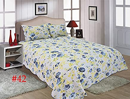 United Curtain Co. Joanne Quilt Set,  Twin,  White/Multi