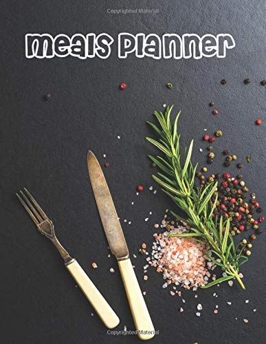 """Meal Planner,: Shopping List Notebook For 55 Weeks, Journal, A4 Book (112 Plate Pattern Pages, Trim Size 8.5"""" x 11"""" Inches)"""