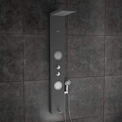 JAAZ ERIS Black Shower Panel with Cascade Flow