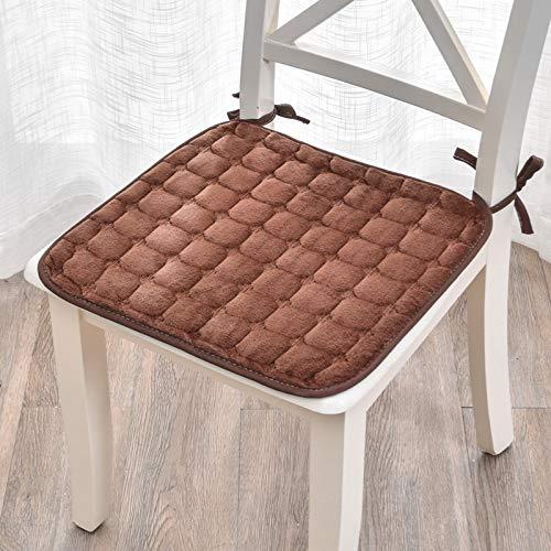 JONJUMP Chair Cushion Thickening Farley Velvet Non-slip Seat Cushion Chair Cushion Super Soft Can Be Fixed on The Chair45 * 45