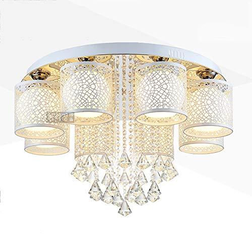 Hedendaagse plafondlamp, plafondlamp, rond, glas, wand, slaapkamer, eetkamer, binnenverlichting, E27 * 8 (zonder lichtbron) Ø75 cm * H35 cm