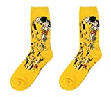 TBOP SOCKS retro art abstract oil painting series male models-kiss Cupid cotton tube