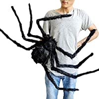 Beslop 5Ft Giant Huge Black Spider Halloween Decorations