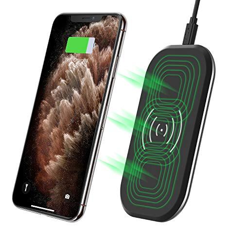 CHOETECH Caricatore Wireless 3 Bobine Ultrasottile 7.5W per iPhone XS/XS Max/XR/X/8/8 Plus, 10W Fast Wireless Charger per Galaxy S10/ S10 +/ S9/ S9 +/ S8/ S8 +/ Note 8/ Note 9, 5W Huawei P30 Pro