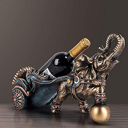 CAIJINJIN estante del vino Adornos de decoración del hogar Accesorios del estante del vino vino vitrina hogar creativo estante de la botella 40 * 15 * 24cm decoraciones caseras Almacenamiento