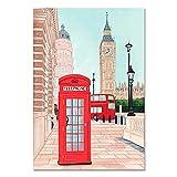 LGYJAL Famosos Carteles de paisajes de la Ciudad París Londres Tokio Pinturas en Lienzo para la Sala de Estar Cuadro Decorativo para la decoración del hogar 50x70 cm W-863