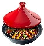Plato para cazuela con tapa, olla para cocinar, plato pequeño de tajine, cazuela de barro redonda de cerámica con tapa, olla de barro resistente al calor, utensilios de cocina multifunción p