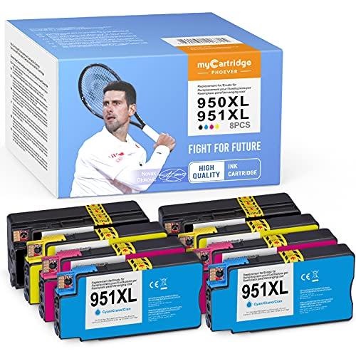 myCartridge PHOEVER - 8 cartuchos de tinta compatibles con HP 950XL 950 XL 951XL 951 XL para HP Officejet Pro 8100 8600 8610 8615 8616 8620 8625 8630 8660 251dw 276dw