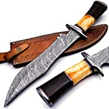Best Bowie Knives - BK-40 Handmade Damascus Steel 15 Inches Bowie Knife Review