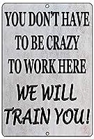 リバーリグラ戦術面白い仕事オフィス小売金属スズマーク壁装飾バーオーナー従業員同僚狂気、私たちは訓練します