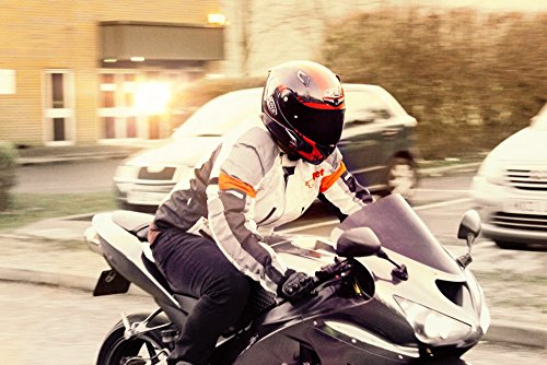Motorradjacke Textil Wasserdicht Winddicht Mit Protektoren - 7