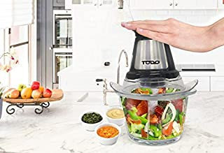 TODO 1.2L Glass Food Chopper Processor with Dual Blade