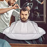 Umbrella Barber Cape For Adult,Capes For Hair Stylist, Non-stick Hair,Easy Clean,Waterproof Barber Salon and Home Stylists Use Hairdressing Kit,More Convenient(Umbrella Cape)