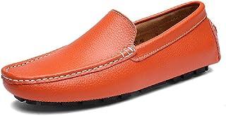 Chaussures en Cuir Véritable Qualité Supérieure Hommes Mocassins Décontractés Chaussures Conduite Antidérapantes Respirant...