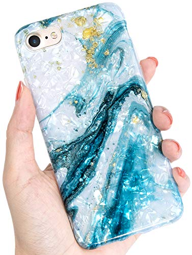 IDWELL iPhone 7 Case, iPhone 8 Case, Ultra Thin [Cute Series] Bling Lightweight Soft TPU Case Cover for Apple iPhone 7/8 4.7 Inch, Ocean Mystery