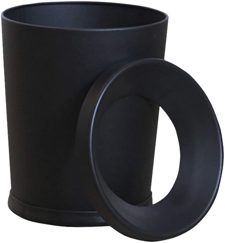 barato Bote Bote Bote de Basura de Acero Inoxidable Negro - Metal crimpado Hogar Sala de Estar Dormitorio Cocina Bao de Inodoro Oficina Grande 12L Desechado Bote de Basura  Web oficial