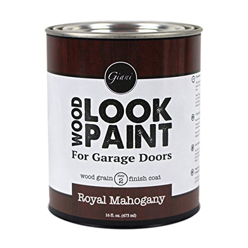 Giani Wood Look Paint for Garage Doors- Step 2 Wood Grain Finish Coat, Pint (Royal Mahogany)