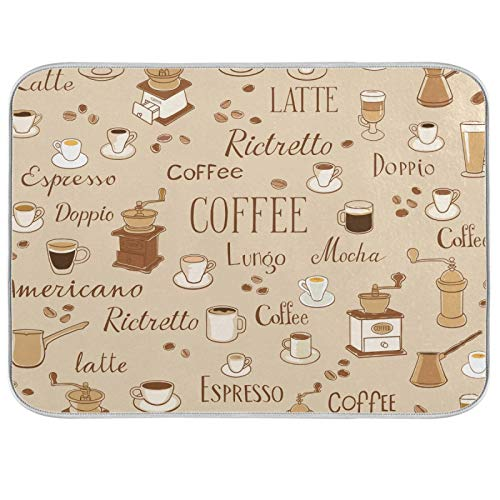 Coffee Placemat Mats Coffee Maker Mat for Coffee Bar Easy to Clean 16 x 18 Coffee Time
