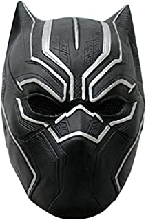 Black Panther Mask Latex Face Helmet for Adult Halloween Costume Halloween Cosplay Costume
