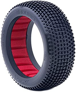 AKA Products 14006MR Racing Buggy Enduro Medium Tire with Red Inserts, Scale 1:8
