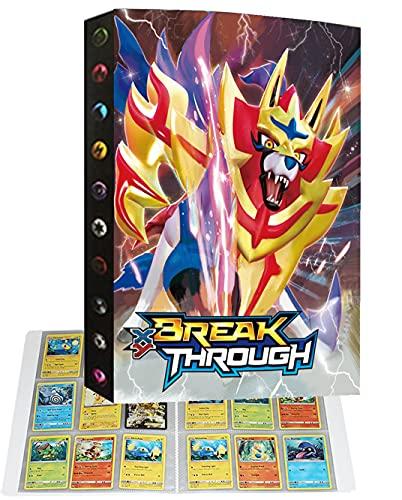 Album Raccoglitore Cartella Libro Porta Carte Compatibile con Carte Pokémon, Album di carte collezionabili, Può contenere 432 carte (432P-2)