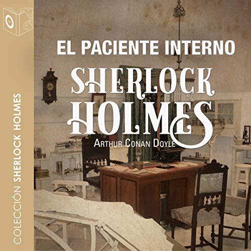 Diseño de la portada del título El paciente interno