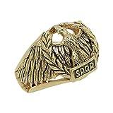 Handcrafted Yellow Gold 14K Custom Made Roman Empire Eagle SPQR Biker mens Ring