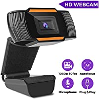 Coocamber 1080P HD Webcam with Microphone
