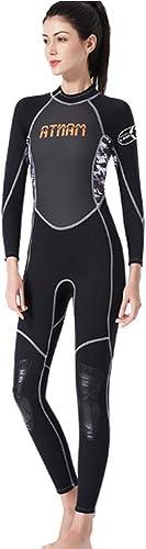 HBRT Combinaison Complète pour Femme Néoprène 3mm Résistant au Froid et à séchage Rapide Combinaison de plongée Surf Plongée sous-Marine Plongée sous-Marine Natation Kayaking