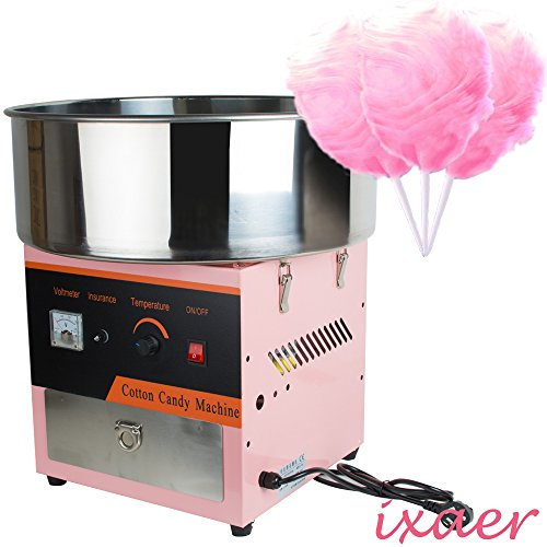 Cheapest Price! ixaer 110V Electric Cotton Candy Machine Floss Maker Commercial Carnival Party