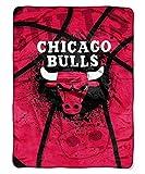 Northwest 803 Shadow Play Chicago Bulls Official NBA 60 inch x 80 inch Royal Plush Raschel Throw Blanket Company