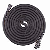 Strongest expandable garden hose, with three layers latex core, durable nylon cloth, the highest density latex expansion hose in the market,Light without twisting or winding magic hose (100FT)
