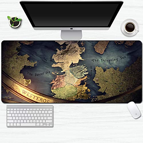 DJFT Tappetino per mouse da gioco esteso Game of Thrones, tappetino per mouse impermeabile, antiscivolo, per ufficio, casa, PC, scrivania, tavolo (colore: 19, dimensioni: 600 x 300 x 3 mm)
