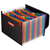 Magicfly Expandable File Folder with Lid, 24 Pocket Accordion File Organizer, A4 Letter Size...