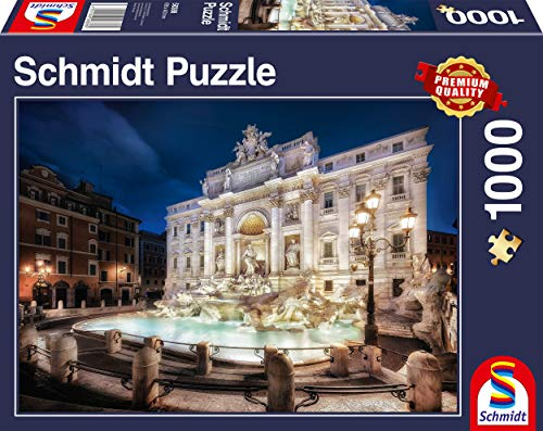 Schmidt Spiele 58388 Fontana di Trevi ROM, Puzzle de 1000 Piezas, Multicolor