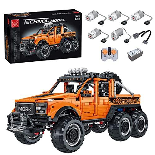 EWWEEQQ Bloques técnicos de construcción de vehículos Todoterreno 3218 Piezas RC Pickup Truck Car con Control Remoto y Motores Engineering Auto Compatible con Lego 42110