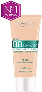 Base Bb Cream L'oréal Paris Efeito Matte 5 Em 1 Fps 50 30g - Morena, L'Oréal Paris, Morena