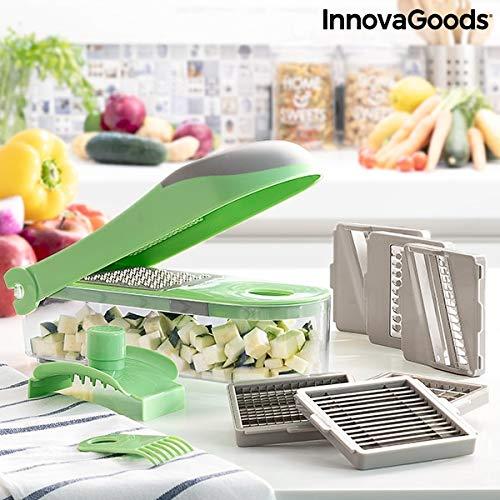 InnovaGoods - Cortador de Verduras, Rallador y Mandolina con Recetas y Accesorios 7 en 1 Choppie Expert