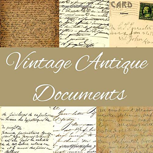 Vintage Antique Documents: Scrapbook Embellishments Paper | Handwritten Letters, Official Documents Postcards from the early 1900s | English, French and Italian