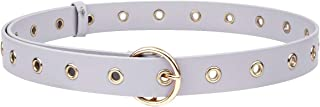 Sportmusies PU Leather Belts for Women, Fashion Soft Skinny Waist Belt for Jeans Dresses 3cm Wide